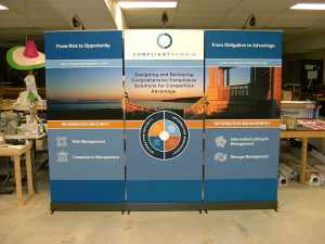 Banner Stands As A Trade Show Backdrop Megaprintinc