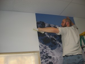 Installing Custom Printed Wallpaper