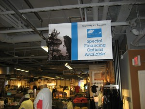 Vinyl Banners in Retail Stores