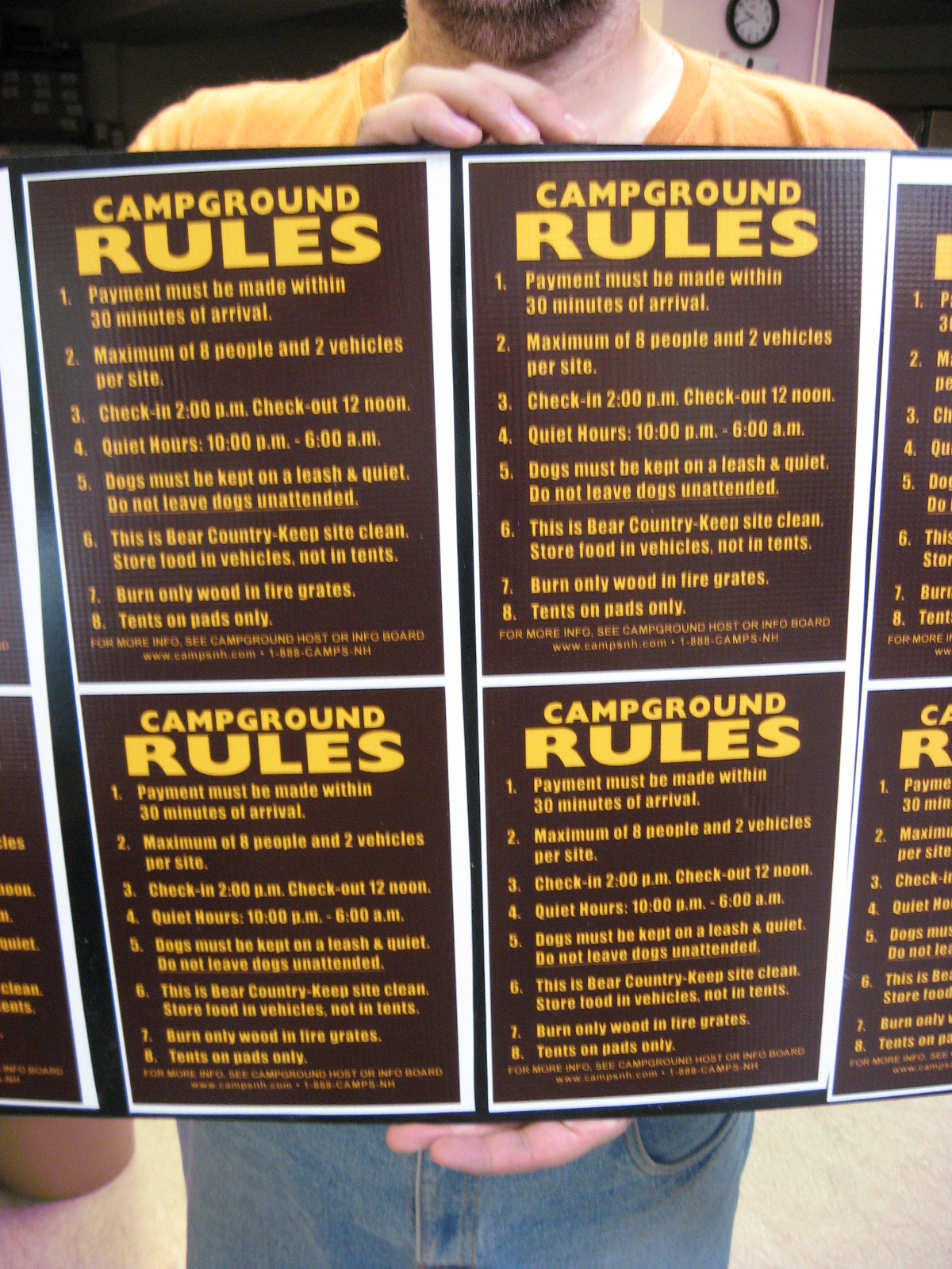 campground rules - eco-friendly backyard fire