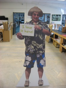 Full size person cutout