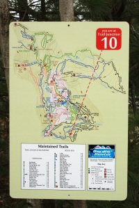 Outdoor trail signs