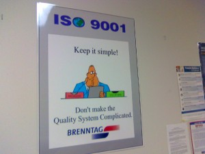 Posters for ISO 9000