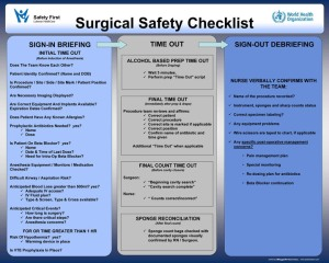 Surgical check list