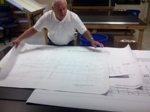 To scale plans for a wooden ship model
