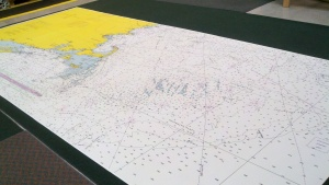 Wallpaper from Nautical Chart