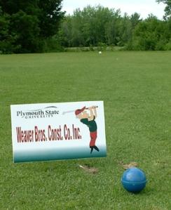 golf tee sponsor signs