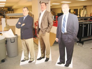 cardboard cutouts of people