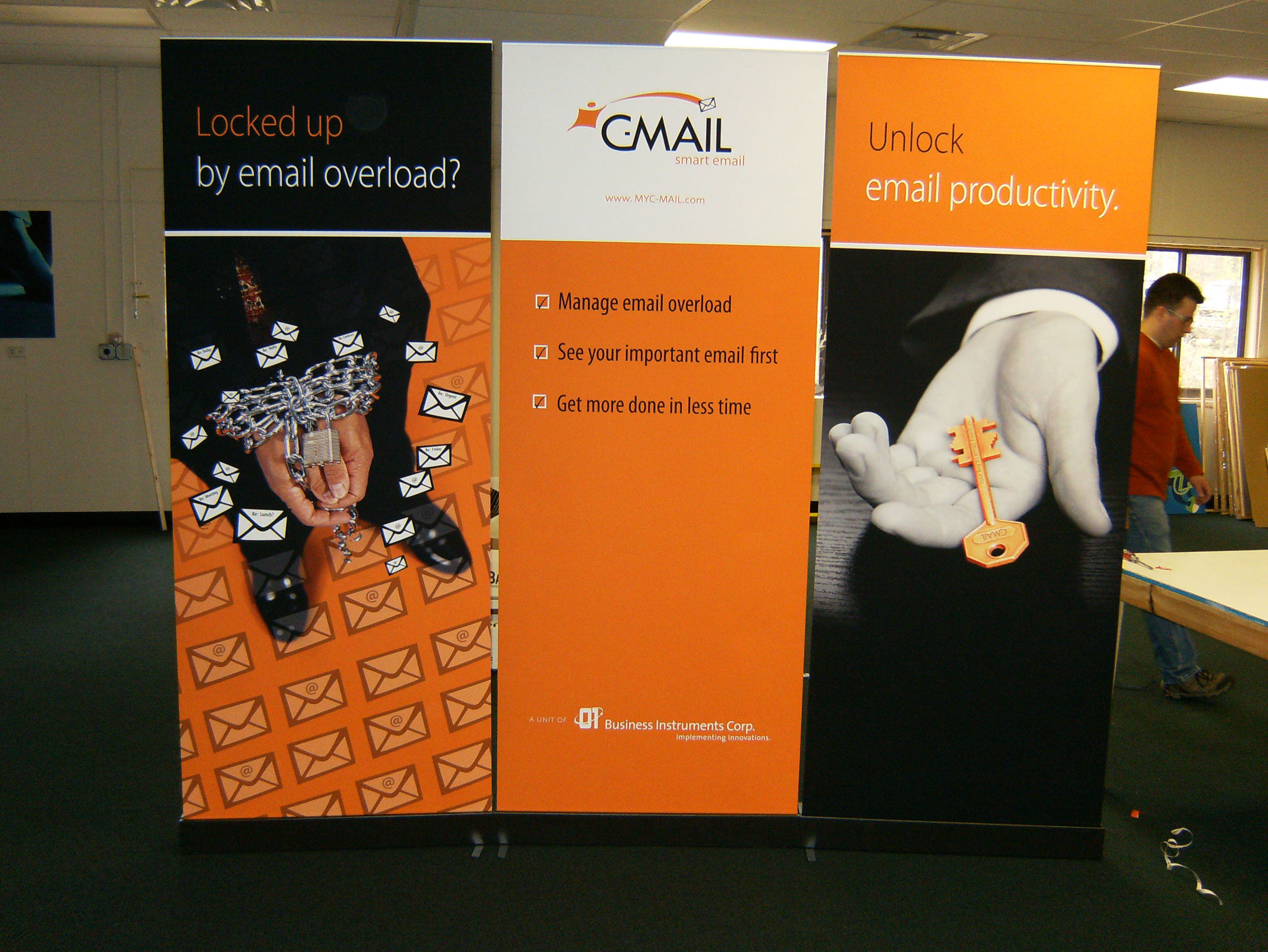 Exhibition Booth Signage : Trade show booth from retractable banners megaprintinc