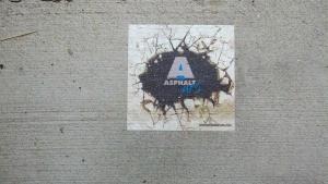 printing on the sidewalk
