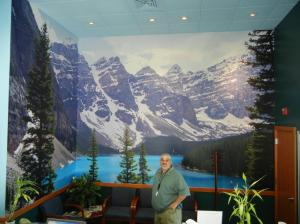 medical office wallpaper mural