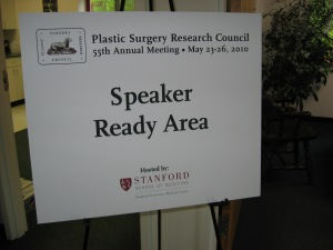 Easel signs for meetings