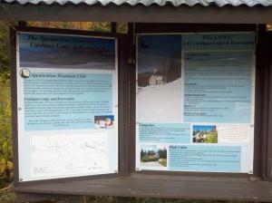 signs for trail head kiosks