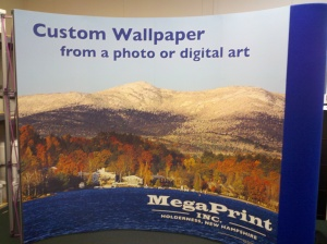 custom wallpaper trade show booth