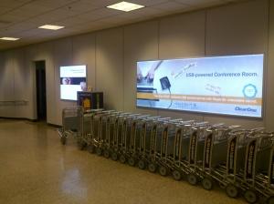 airport backlit display