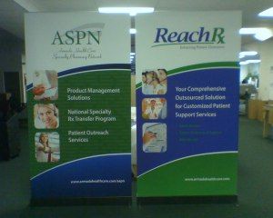 Four foot wide banner stands