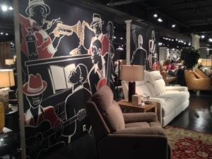 custom wall mural for a bar