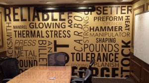 custom wallpaper in company offices