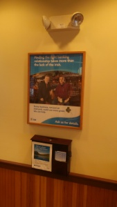 lobby posters in a bank