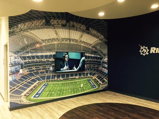 Wallpaper for a man cave megaprintinc for Dallas cowboys stadium wall mural