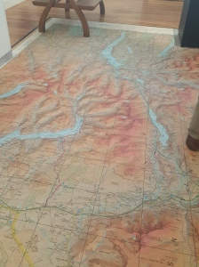 Topo Map as floor graphic