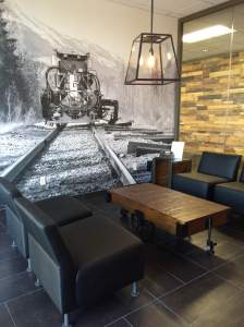 wall mural for a company lobby