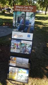 literature rack POP signage