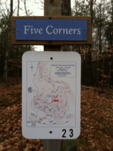 location finding trail sign
