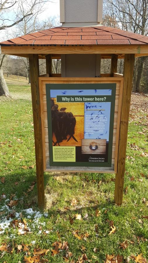 animal information sign