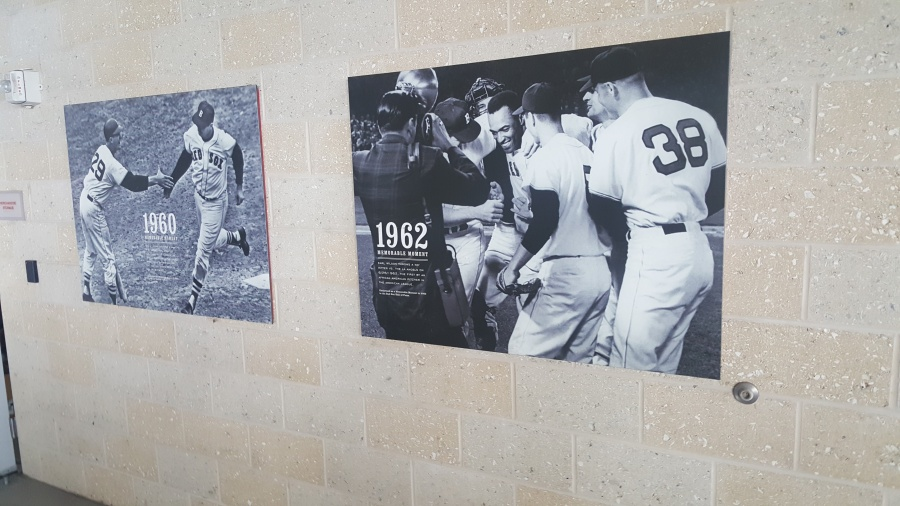 historic photos displayed outside