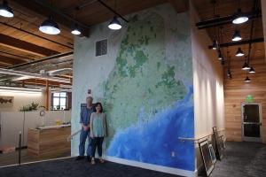 large printed map