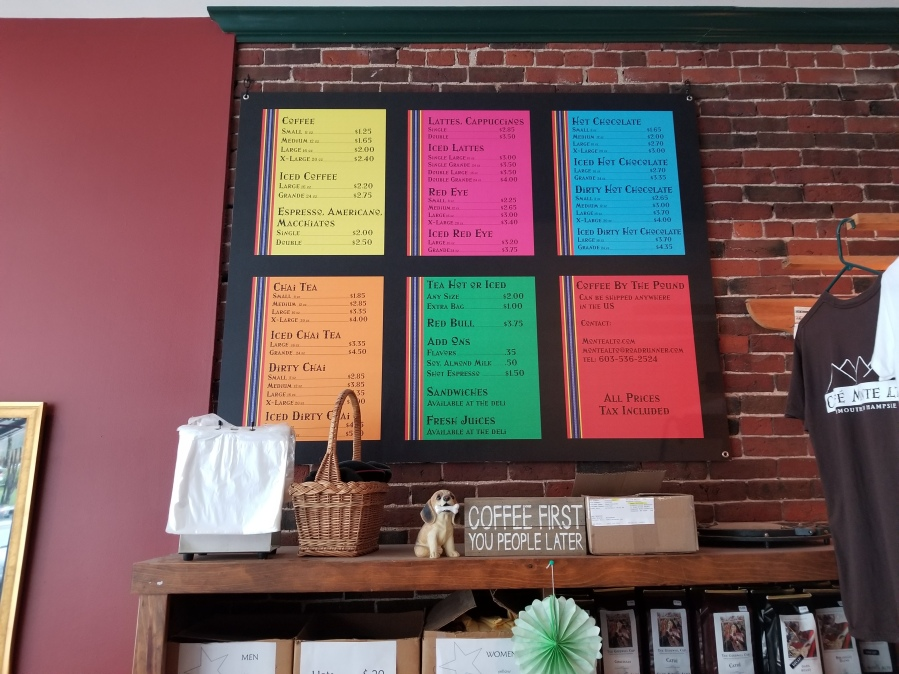large menus for restaurants