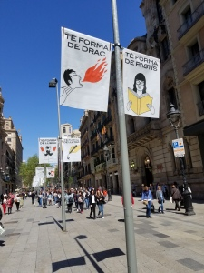 boulevard banners in barcelona