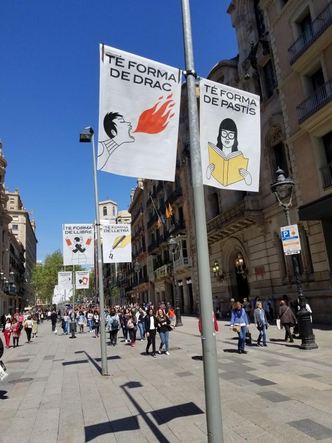 boulevard banners in barcelona