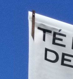 lamp post banner strap