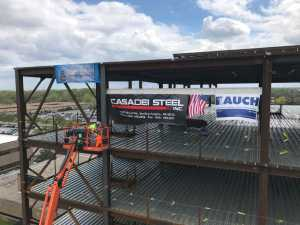 Banner on Steel of Job Site