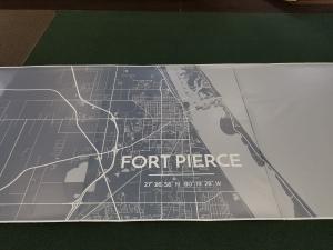 map printed as wallpaper