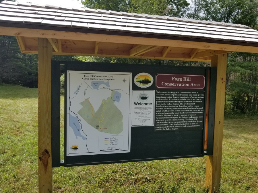 Full color trail head sign
