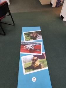 photo printing on yoga mat