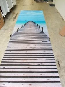 large format floor print