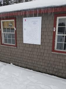 Ski Map Sign