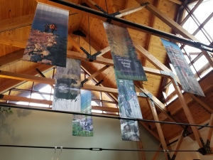 fabric banners indoors