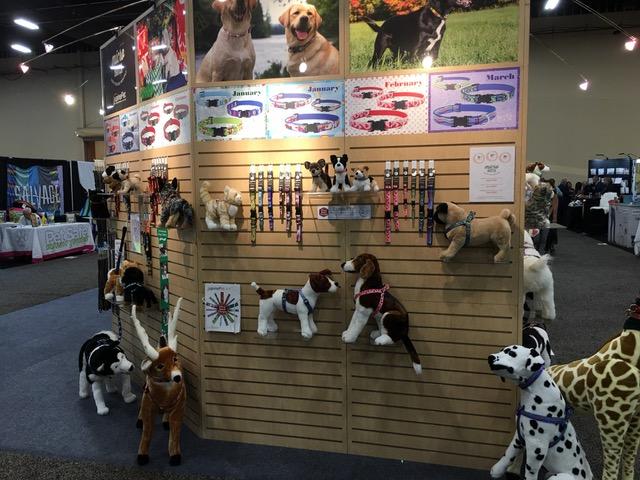 photos in a trade show booth