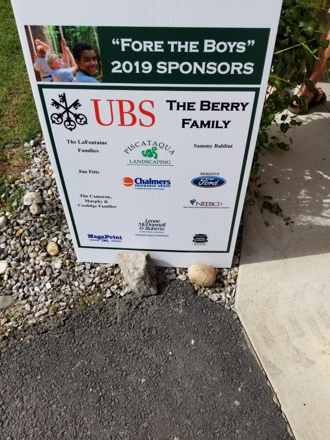 golf sponsor sign