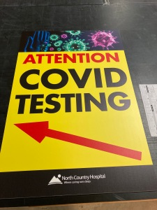 covid 19 custom sign